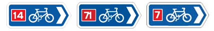 Signs for National Cycle Routes