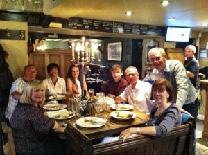 A meal out at the Brown Horse pub.