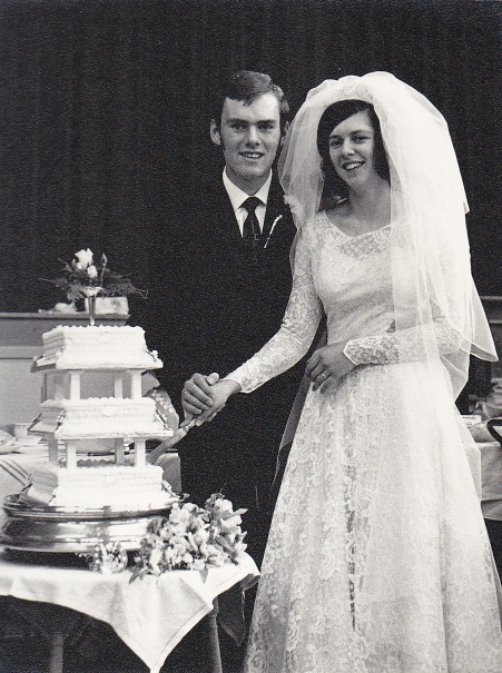 Cutting the cake in 1971