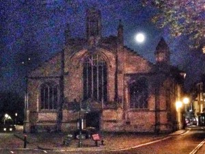 St Michael le Belfrey in moonlight
