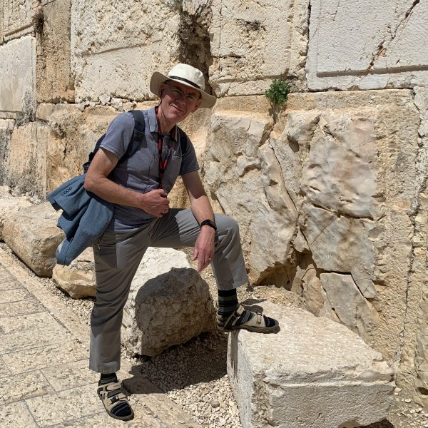 Barrie at the Temple Wall in Jerusalem